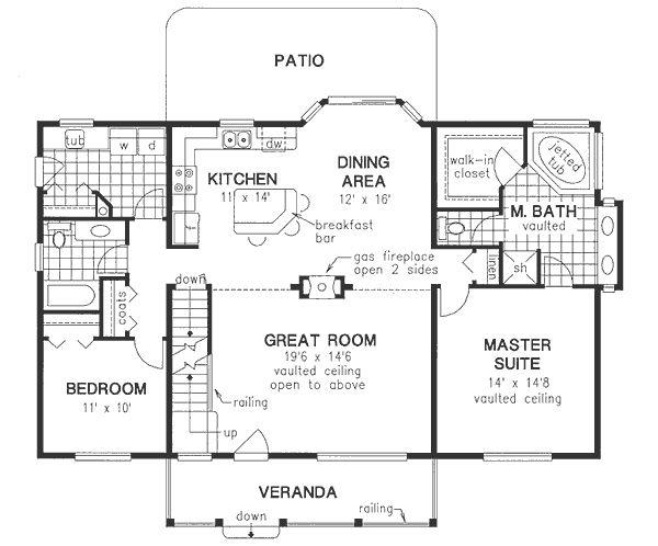 Ranch Floor Plan - Main Floor Plan Plan #18-4510