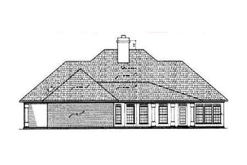 European Exterior - Rear Elevation Plan #45-136 - Houseplans.com