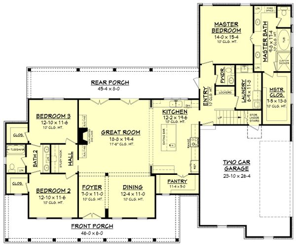 Farmhouse Floor Plan - Main Floor Plan Plan #430-160