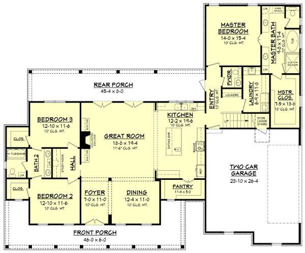 Farmhouse Floor Plan - Main Floor Plan Plan #430-160