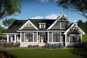 Craftsman Style House Plan - 3 Beds 2 Baths 1958 Sq/Ft Plan #70-1493 Exterior - Front Elevation