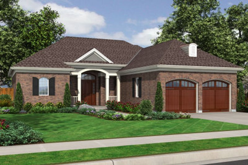 Traditional Exterior - Front Elevation Plan #46-463 - Houseplans.com