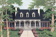 Southern Style House Plan - 4 Beds 4.5 Baths 3765 Sq/Ft Plan #406-113 Exterior - Front Elevation