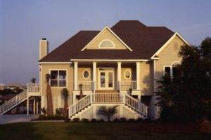 Architectural House Design - Beach Exterior - Front Elevation Plan #37-174