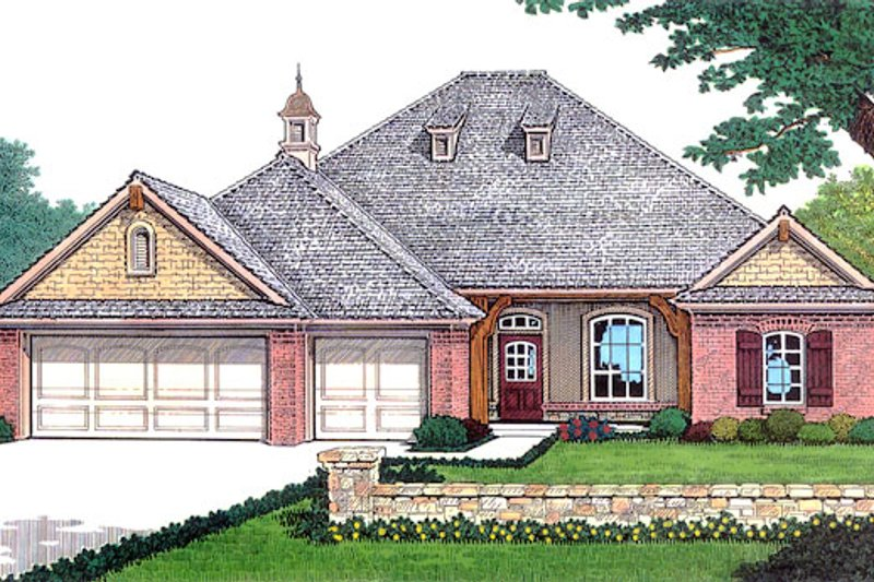 Traditional Style House Plan - 3 Beds 2.5 Baths 2056 Sq/Ft Plan #310-311 Exterior - Front Elevation