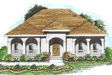 Dream House Plan - Mediterranean Exterior - Front Elevation Plan #20-1366