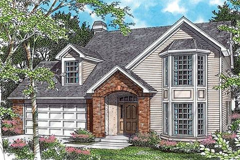 Traditional Exterior - Front Elevation Plan #48-204 - Houseplans.com