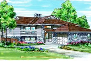 Traditional Exterior - Front Elevation Plan #47-122