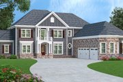Traditional Style House Plan - 4 Beds 4.5 Baths 4226 Sq/Ft Plan #419-296 Exterior - Front Elevation