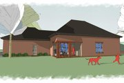 European Style House Plan - 4 Beds 3 Baths 2590 Sq/Ft Plan #460-4 Exterior - Rear Elevation