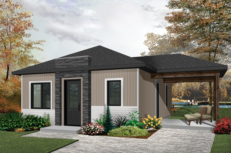 Architectural House Design - Ranch Exterior - Front Elevation Plan #23-2606