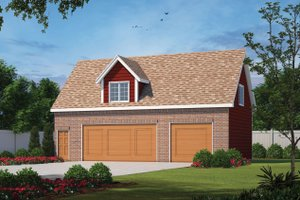 Traditional Exterior - Front Elevation Plan #20-2372