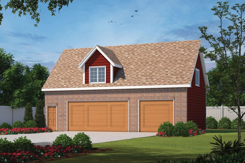 Home Plan - Traditional Exterior - Front Elevation Plan #20-2372