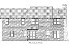 Craftsman Exterior - Rear Elevation Plan #453-10