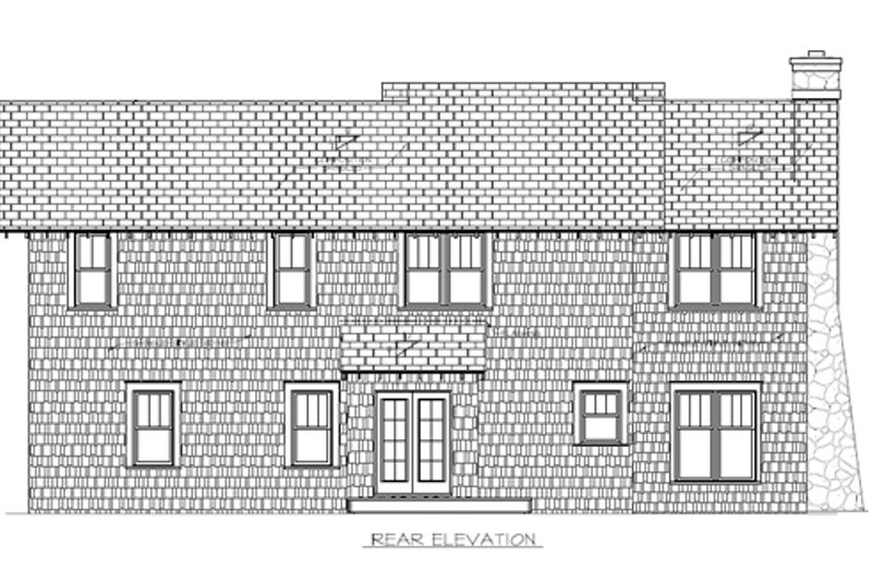 Craftsman Exterior - Rear Elevation Plan #453-10 - Houseplans.com