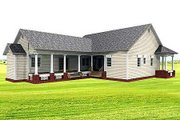 Country Style House Plan - 3 Beds 2.5 Baths 2123 Sq/Ft Plan #44-121 Exterior - Rear Elevation