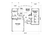European Floor Plan - Main Floor Plan Plan #20-2068