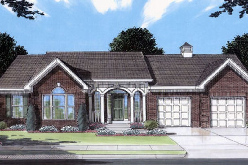 Traditional Exterior - Front Elevation Plan #46-350 - Houseplans.com
