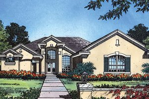 European Exterior - Front Elevation Plan #417-245