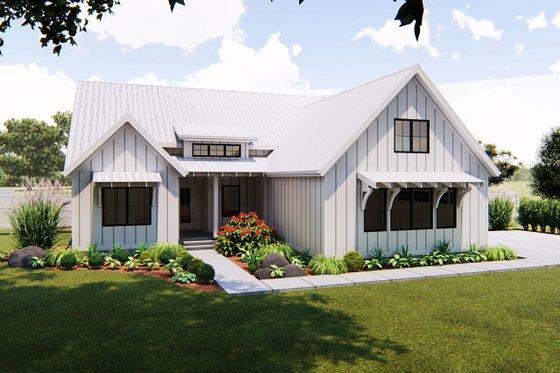 Farmhouse Exterior - Front Elevation Plan #455-216