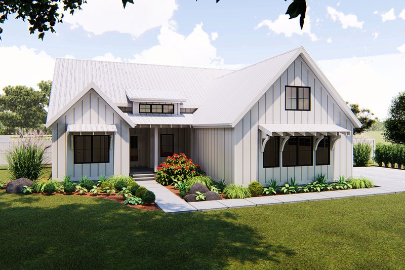 Farmhouse Exterior - Front Elevation Plan #455-216