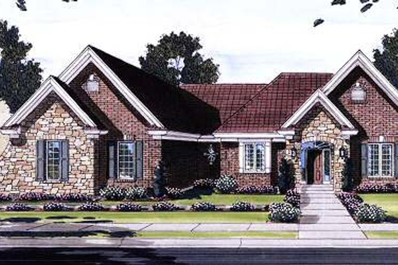 Traditional Exterior - Front Elevation Plan #46-405