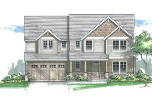 House Plan Design - Craftsman Exterior - Front Elevation Plan #53-610