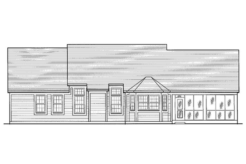 Country Exterior - Rear Elevation Plan #46-106 - Houseplans.com