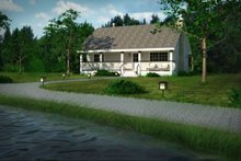 Country, Cabin style home, front elevation