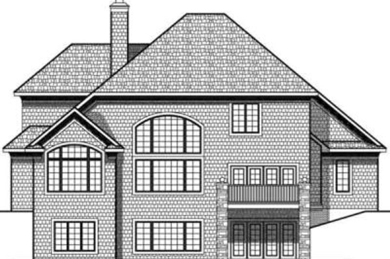 Traditional Exterior - Rear Elevation Plan #70-636 - Houseplans.com