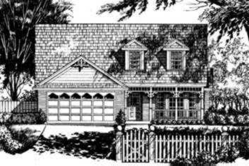 Traditional Exterior - Front Elevation Plan #40-264 - Houseplans.com