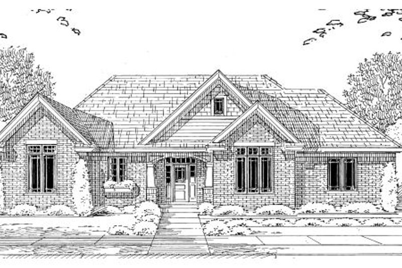 Bungalow Exterior - Other Elevation Plan #46-433 - Houseplans.com