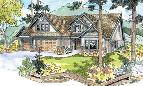 Craftsman Exterior - Front Elevation Plan #124-513