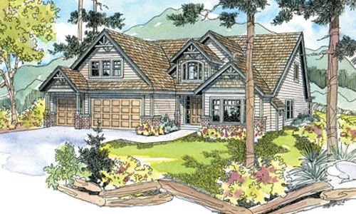 Craftsman Exterior - Front Elevation Plan #124-513