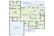 Traditional Style House Plan - 3 Beds 2 Baths 1525 Sq/Ft Plan #17-116 Floor Plan - Main Floor