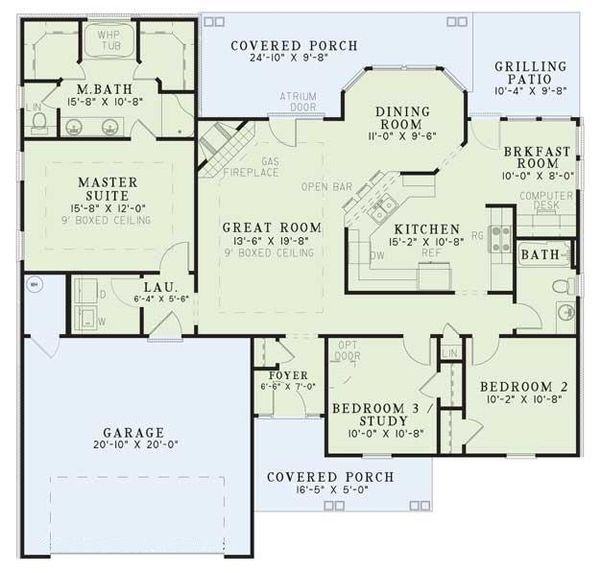 Traditional Floor Plan - Main Floor Plan Plan #17-116