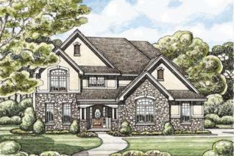 Traditional Exterior - Front Elevation Plan #20-1842 - Houseplans.com