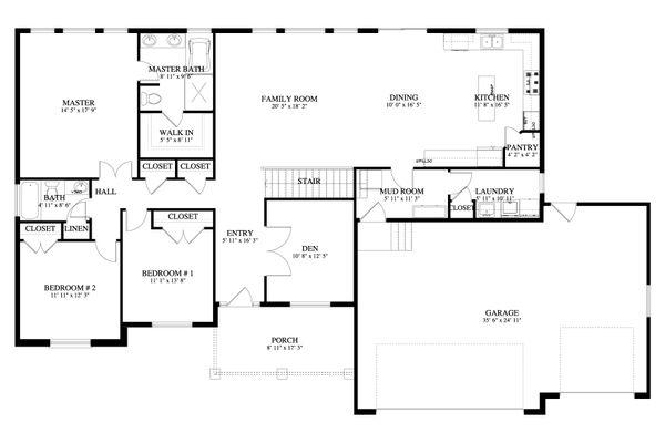 House Plan Design - Traditional Floor Plan - Main Floor Plan #1060-67