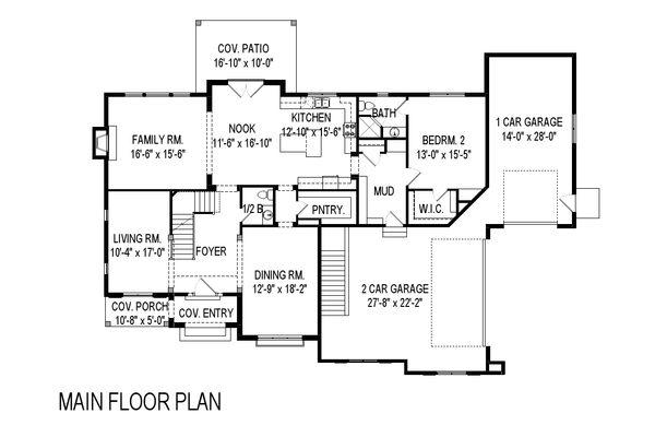 Architectural House Design - European Floor Plan - Main Floor Plan #920-116