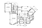 Craftsman Style House Plan - 6 Beds 7.5 Baths 7834 Sq/Ft Plan #920-96 Floor Plan - Main Floor Plan