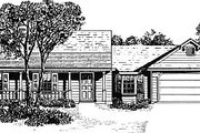 Country Style House Plan - 3 Beds 2 Baths 1439 Sq/Ft Plan #14-134 Exterior - Front Elevation