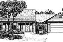 Country Exterior - Front Elevation Plan #14-134