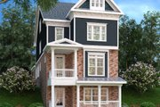 Traditional Style House Plan - 4 Beds 4.5 Baths 3108 Sq/Ft Plan #419-292 Exterior - Front Elevation