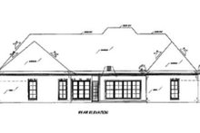 House Plan Design - European Exterior - Rear Elevation Plan #36-442