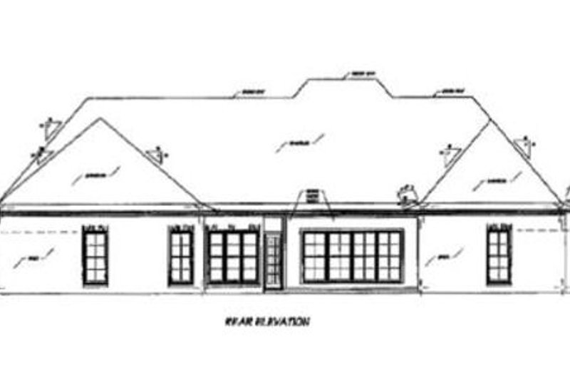 European Exterior - Rear Elevation Plan #36-442 - Houseplans.com