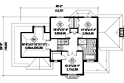 Traditional Style House Plan - 3 Beds 1 Baths 2208 Sq/Ft Plan #25-4560 Floor Plan - Upper Floor Plan