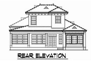 Mediterranean Style House Plan - 3 Beds 2.5 Baths 1826 Sq/Ft Plan #76-107 Exterior - Rear Elevation