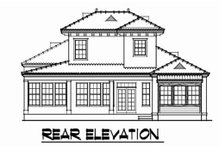 Dream House Plan - Mediterranean Exterior - Rear Elevation Plan #76-107