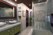 Contemporary Style House Plan - 3 Beds 3 Baths 1335 Sq/Ft Plan #484-7 Interior - Master Bathroom