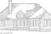 Traditional Style House Plan - 3 Beds 2.5 Baths 1845 Sq/Ft Plan #10-113 Exterior - Rear Elevation